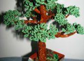 Вечнозеленое дерево из бисера