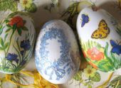 Декупаж на яйцах к Пасхе