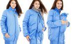 Слингокуртка — правильный выбор молодых мамочек для зимних прогулок