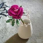 Роза из бисера,  готовый вариант 2