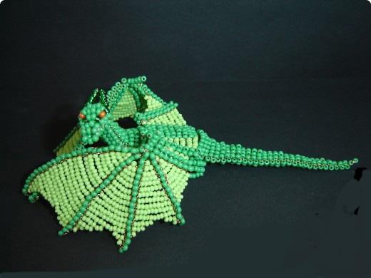 Плетение зеленого дракона из