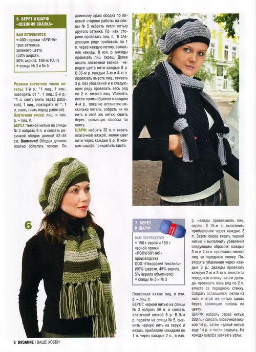 Вязание берет для женщин спицами