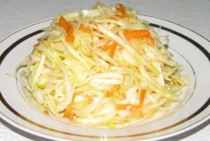 Салат со свежей капусты. Рецепт