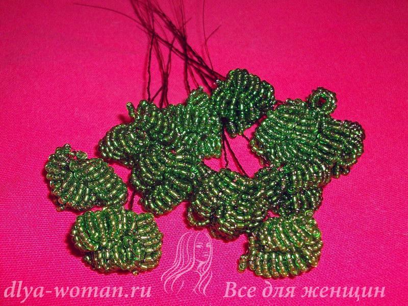 пошаговая инструкция плетения бисером бонсай - фото 4