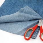игрушка-подушка из джинса