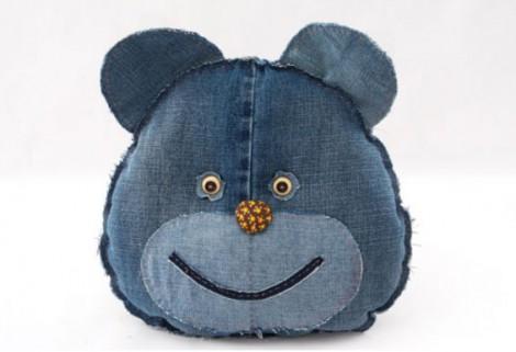 игрушка-подушка из джинс