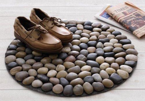 Как сделать коврик своими руками из камней фото