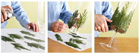 как украсить посуду на новый год