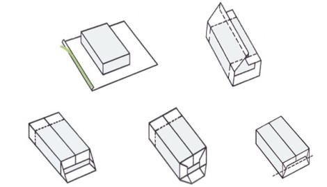 схема упаковки подарка