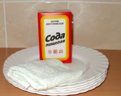 содой можно мыть посуду